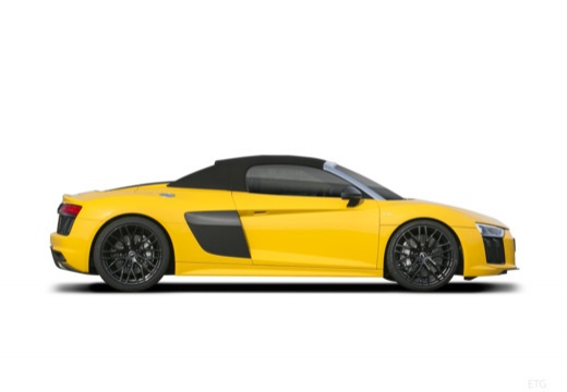 AUDI R8 roadster żółty boczny prawy