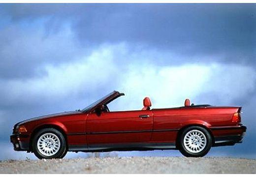 BMW Seria 3 Cabriolet E36 kabriolet bordeaux (czerwony ciemny) boczny lewy