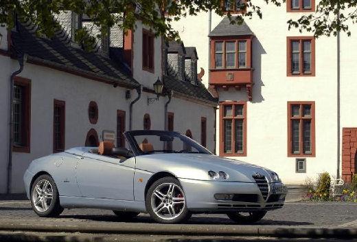 ALFA ROMEO Spider IV kabriolet silver grey przedni prawy