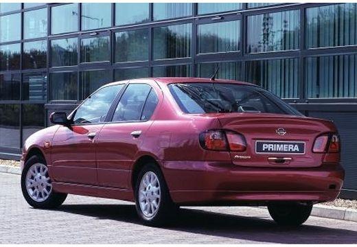 NISSAN Primera III sedan fioletowy tylny lewy