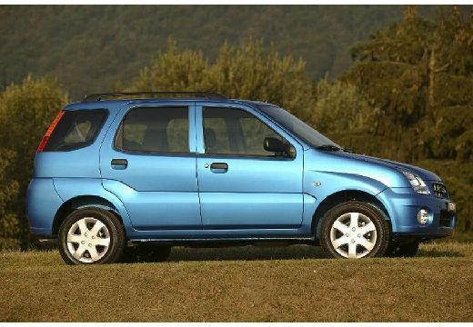 SUBARU Justy hatchback niebieski jasny boczny prawy