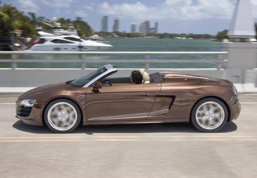 AUDI R8 Spyder I roadster brązowy boczny lewy