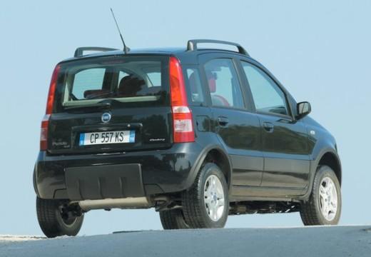 FIAT Panda II hatchback czarny tylny prawy