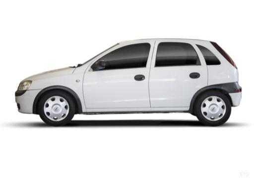 OPEL Corsa C II hatchback biały boczny lewy