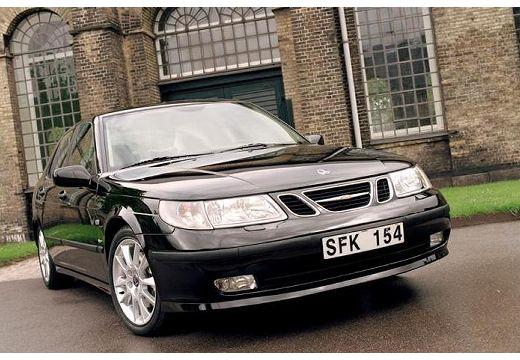 SAAB 9-5 sedan czarny przedni prawy