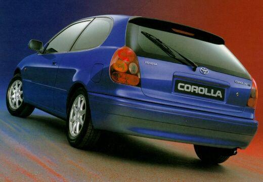 Toyota Corolla IV hatchback niebieski jasny tylny lewy