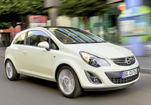 OPEL Corsa D II hatchback biały przedni prawy