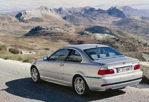 BMW Seria 3 coupe silver grey tylny lewy