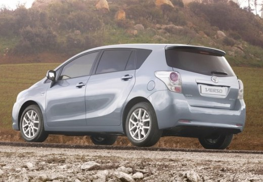 Toyota Verso kombi mpv silver grey tylny lewy