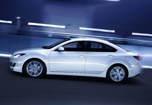 MAZDA 6 III sedan biały boczny lewy