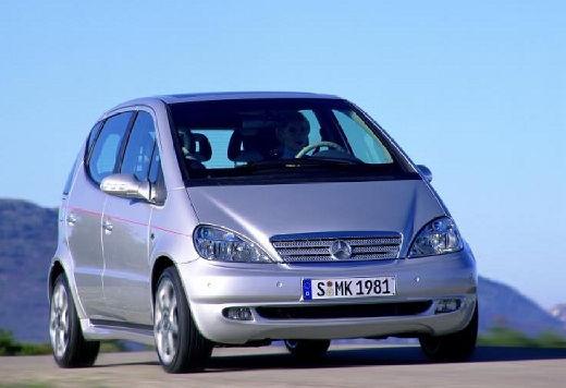 MERCEDES-BENZ Klasa A W 168 II hatchback silver grey przedni prawy