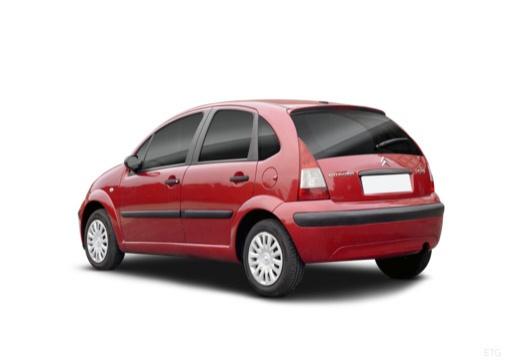 CITROEN C3 II hatchback czerwony jasny tylny lewy