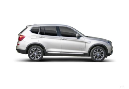 BMW X3 X 3 F25 II kombi silver grey boczny prawy