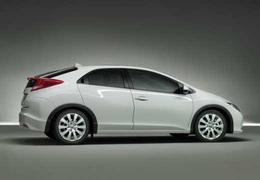 HONDA Civic VIII hatchback biały tylny prawy