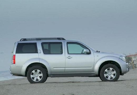 NISSAN Pathfinder III kombi silver grey boczny prawy