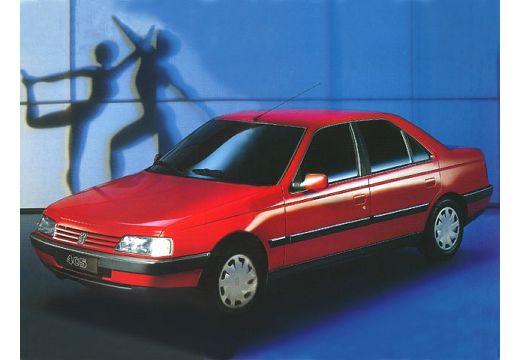 PEUGEOT 405 I sedan czerwony jasny przedni lewy