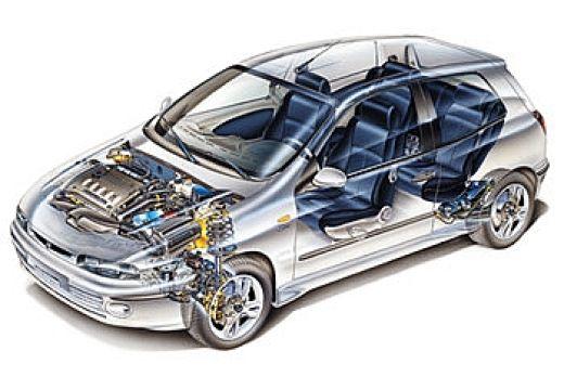 FIAT Bravo I hatchback prześwietlenie