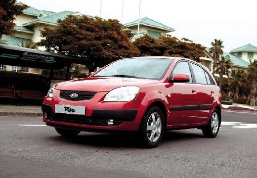 KIA Rio III hatchback czerwony jasny przedni lewy