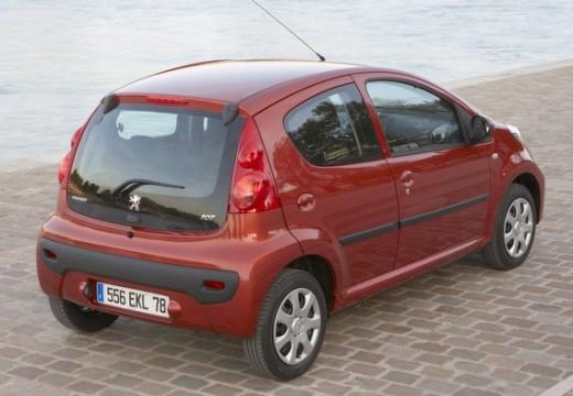 PEUGEOT 107 hatchback czerwony jasny tylny prawy