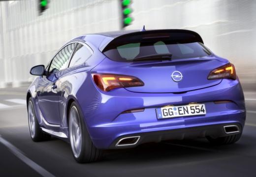 OPEL Astra IV GTC II hatchback niebieski jasny tylny lewy