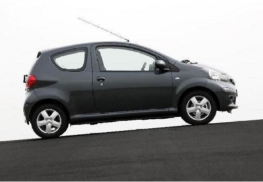 Toyota Aygo I hatchback czarny boczny prawy