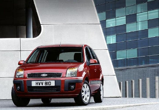FORD Fusion II hatchback czerwony jasny przedni lewy