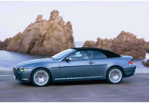 BMW Seria 6 Cabriolet E64 I kabriolet niebieski jasny przedni lewy