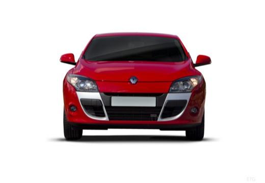 RENAULT Megane III Coupe I hatchback czerwony jasny przedni