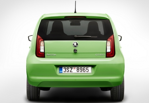SKODA Citigo hatchback zielony tylny