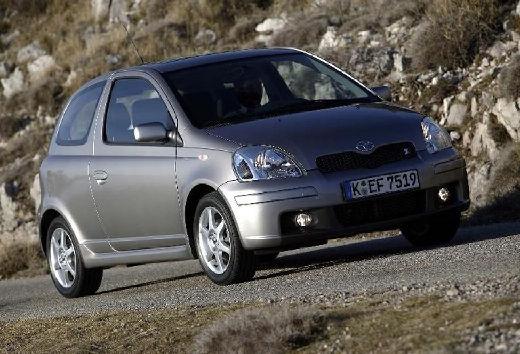 Toyota Yaris II hatchback silver grey przedni prawy
