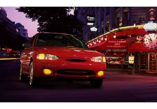HYUNDAI Accent I hatchback czerwony jasny przedni prawy