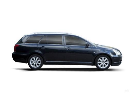 Toyota Avensis III kombi czarny boczny prawy