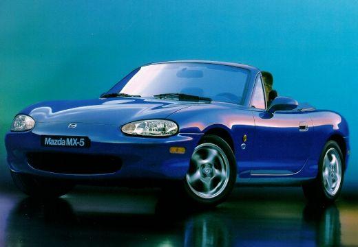 MAZDA MX-5 II roadster niebieski jasny przedni lewy