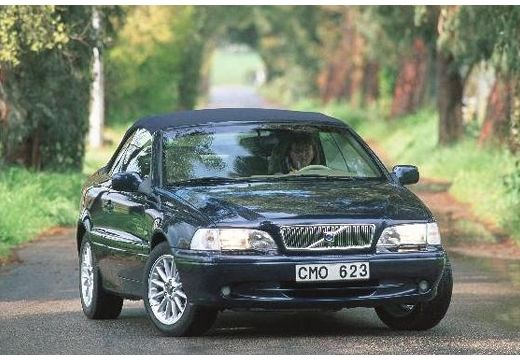 VOLVO C70 Cabrio I kabriolet czarny przedni prawy