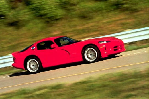 DODGE Viper coupe czerwony jasny przedni prawy
