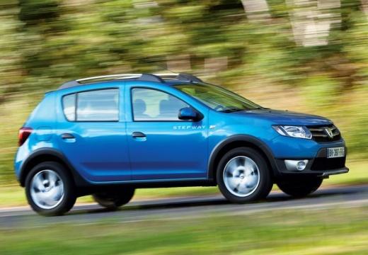 DACIA Sandero II hatchback niebieski jasny boczny prawy