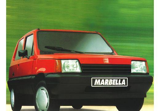 SEAT Marbella hatchback czerwony jasny przedni prawy