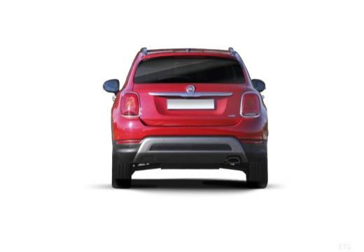 FIAT 500 X City Look hatchback czerwony jasny tylny