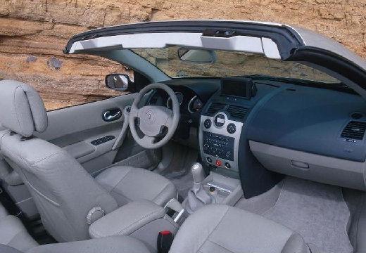 RENAULT Megane CC kabriolet silver grey wnętrze