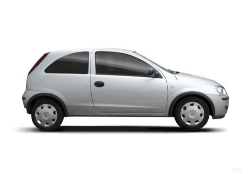 OPEL Corsa C II hatchback silver grey boczny prawy