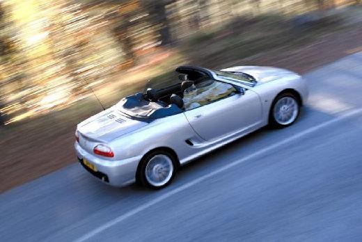 MG TF roadster silver grey tylny prawy