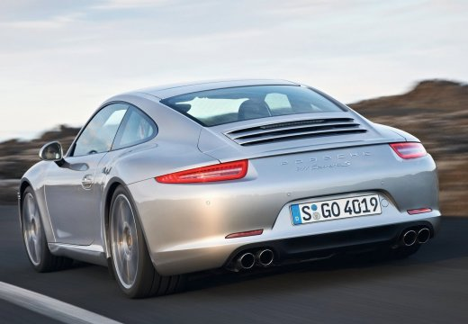 PORSCHE 911 991 I coupe silver grey tylny lewy