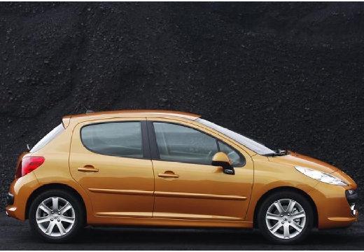 PEUGEOT 207 I hatchback złoty boczny prawy