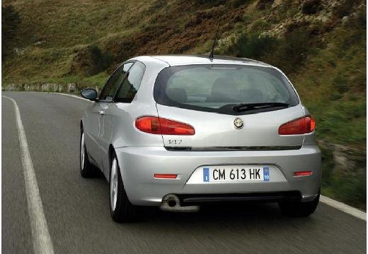 ALFA ROMEO 147 II hatchback silver grey tylny lewy