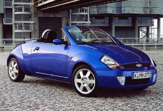 FORD Streetka roadster niebieski jasny przedni prawy