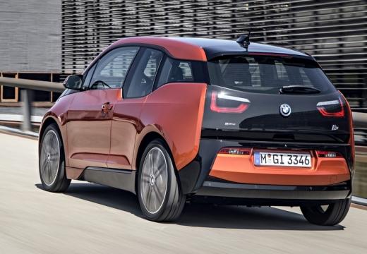 BMW i3 hatchback pomarańczowy tylny lewy