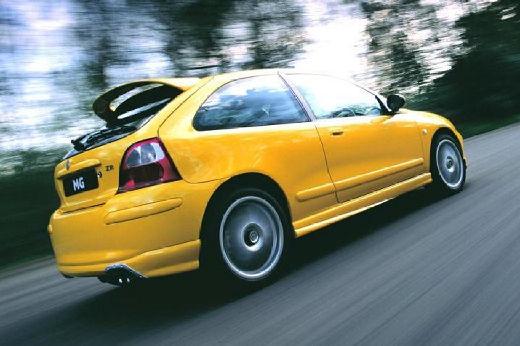 MG ZR hatchback żółty tylny prawy