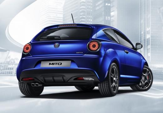 ALFA ROMEO MiTo Mito hatchback niebieski jasny tylny prawy