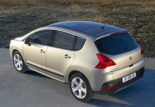 PEUGEOT 3008 hatchback silver grey tylny lewy