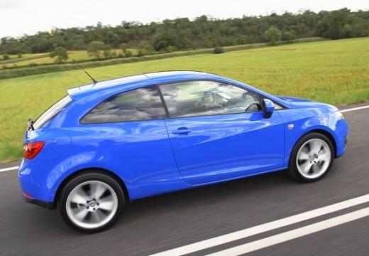 SEAT Ibiza V hatchback niebieski jasny boczny prawy